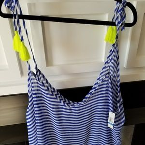Other - NWT Chiffon striped bathing suit cover up